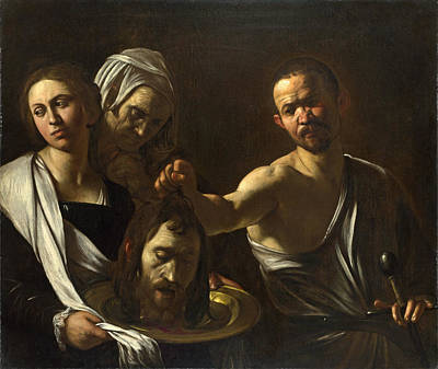 Caravaggio Painting - Salome Receives The Head Of Saint John The Baptist by Caravaggio