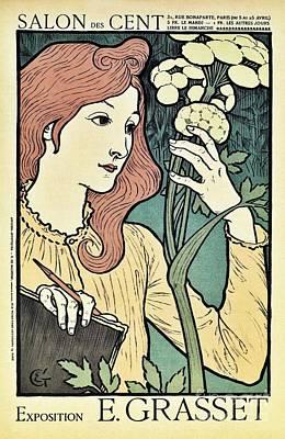Salon Des Cent 1894 Grasset Print by Aapshop