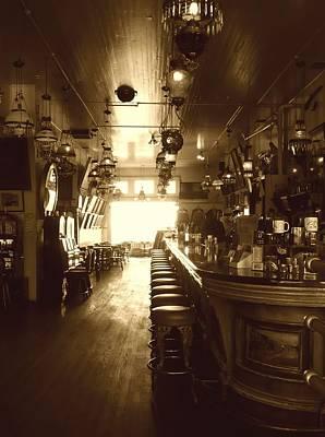Old Western Photograph - Saloon by Lori Seaman