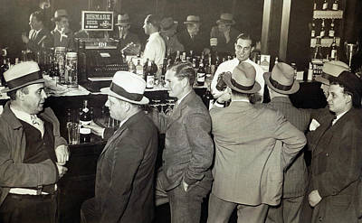 Saloon Opens - Prohibition Ends 1933 Print by Daniel Hagerman