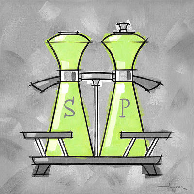 Salt And Pepper Lime Print by Larry Hunter