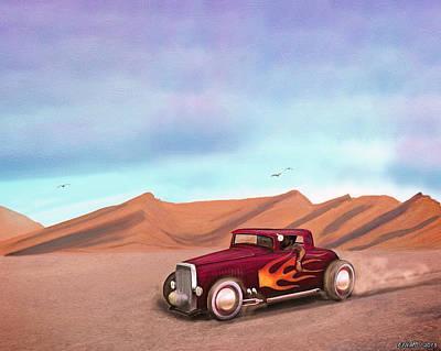 Mooneye Painting - Salt Flats Racer by Ken Morris