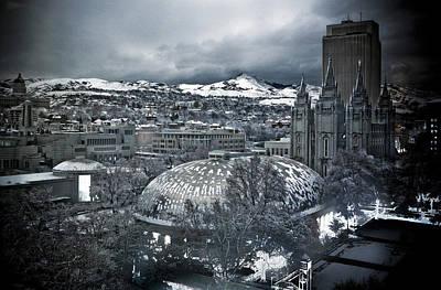 Winter Photograph - Salt Lake City Tabernacle by Marilyn Hunt