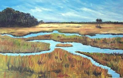 Marsh Painting - Salt Marsh by Carol Sprovtsoff