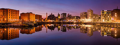 Mirror Photograph - Salthouse Dock, Liverpool by Alexis Birkill