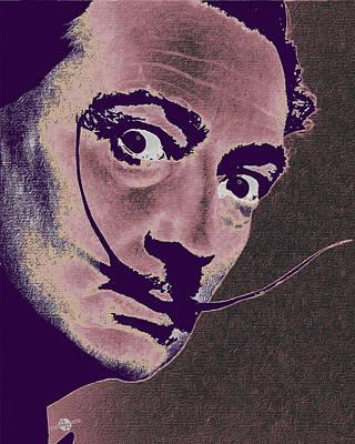 Salvador Dali Pop Art Painting 2 Original by Tony Rubino