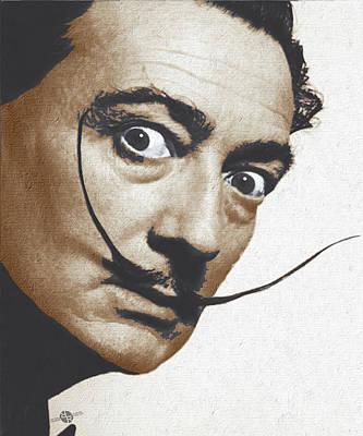 Salvador Dali Realistic Painting Original by Tony Rubino