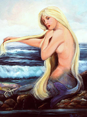 Sea Nymph Painting - Samantha by Sally Seago