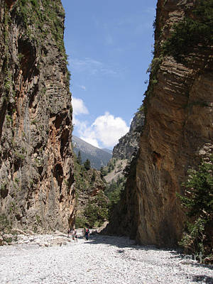 Ravine Photograph - Samaria Gorge by Jane Rix