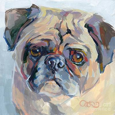 Fawn Pug Painting - Sammy Sumner by Kimberly Santini