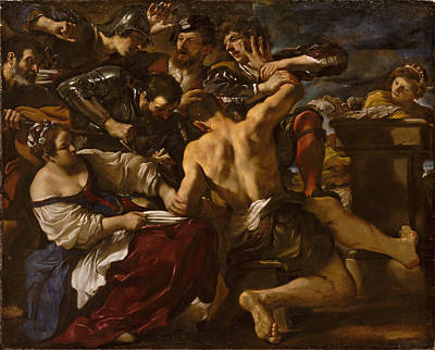 Guercino Painting - Samson Captured By The Philistines by Guercino