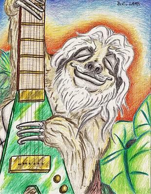 Sloth Drawing - Samson The Sloth by Bryant Lamb