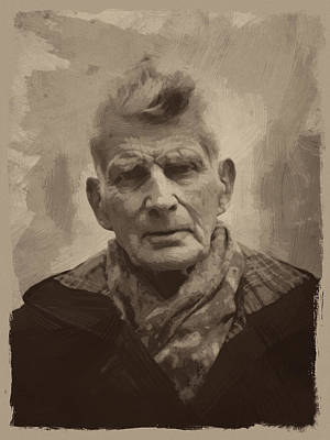 Samuel Beckett 2 Print by Afterdarkness