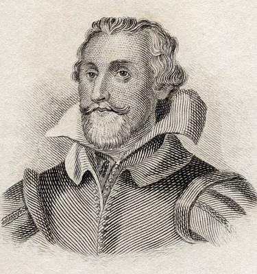 Historian Drawing - Samuel Daniel, 1562 To 1619. English by Vintage Design Pics