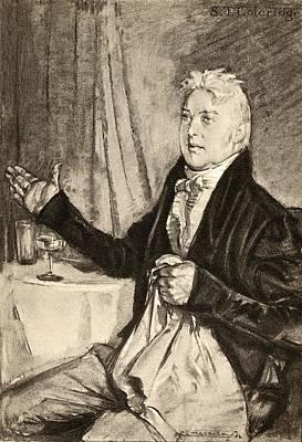 Coleridge Drawing - Samuel Taylor Coleridge, 1772   1834 by Vintage Design Pics