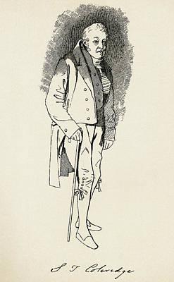 Coleridge Drawing - Samuel Taylor Coleridge, 1772 by Vintage Design Pics