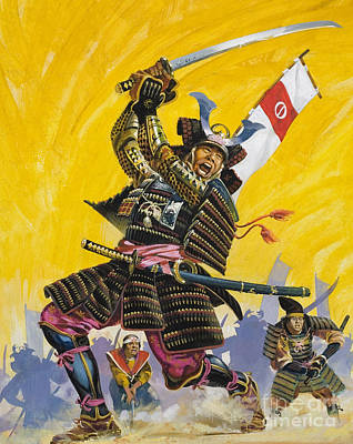 Samurai Warriors Print by English School