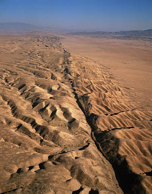 San Andreas Fault, Aerial View Print by David Parker
