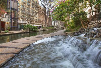Riverwalk Photograph - San Antonio Riverwalk Morning by Rob Greebon