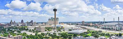 Skylines Photograph - San Antonio Skyline Panorama by Tod and Cynthia Grubbs