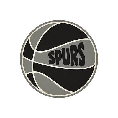 San Antonio Spurs Retro Shirt Print by Joe Hamilton