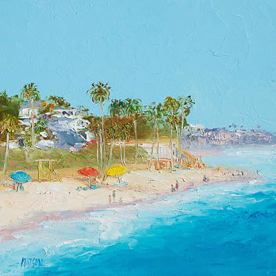 Coastal Painting - San Clemente Beach by Jan Matson