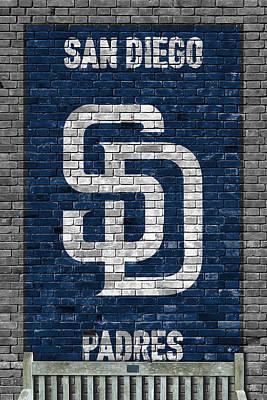 San Diego Padres Stadium Painting - San Diego Padres Brick Wall by Joe Hamilton