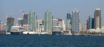 Cityscape Photograph - San Diego Skyline 1 by Joseph R Luciano