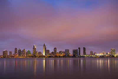Architecture Photograph - San Diego Skyline by Adam Romanowicz