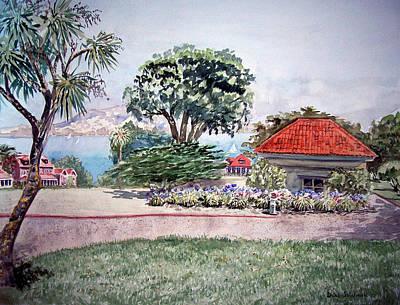 Presidio Park Painting - San Francisco Park Presidio by Irina Sztukowski