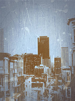 Bay Digital Art - San Francisco 2 by Naxart Studio