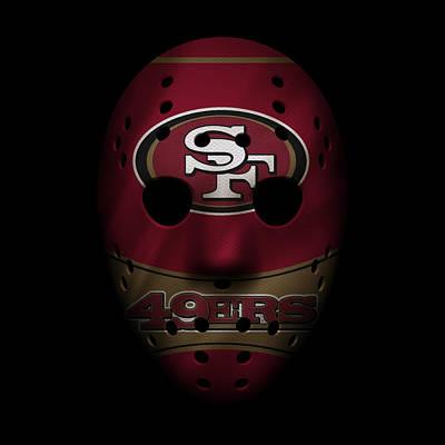 San Francisco 49ers War Mask Print by Joe Hamilton