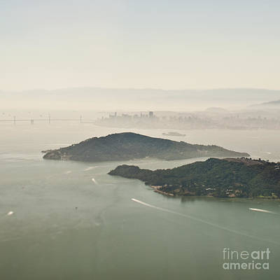 San Francisco Angel Island And Bay Print by Eddy Joaquim