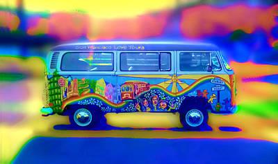 San Francisco Bus Print by Natalia Shcherbakova