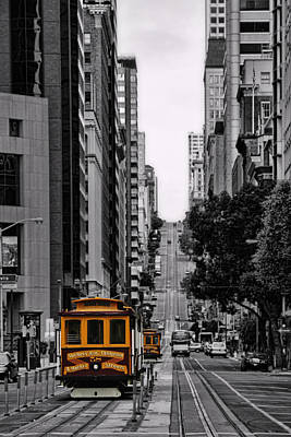 Alcatraz Photograph - San Francisco Cable Car by Jeff Dalton
