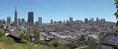 San Francisco California Panorama Architecture And Neighborhood. Original by Gino Rigucci