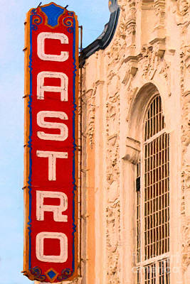 Bisexual Photograph - San Francisco Castro Theater by Wingsdomain Art and Photography