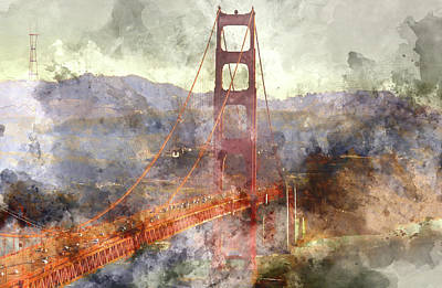 Golden Gate Bridge Photograph - San Francisco Golden Gate Bridge  by Brandon Bourdages