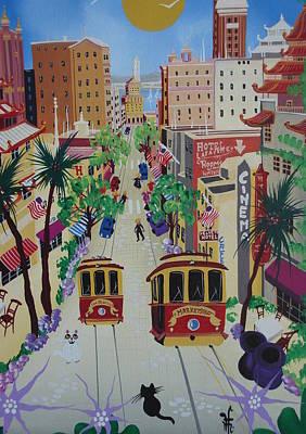 Streetcar Painting - San Francisco by Herbert Hofer