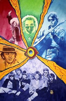 Jerry Garcia Painting - San Francisco Rock by Ken Meyer jr