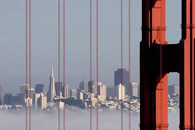 Golden Gate Photograph - San Francisco Skyline From Golden Gate Bridge by Mona T. Brooks