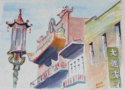 San Francisco's Chinatown Original by Anne Woods