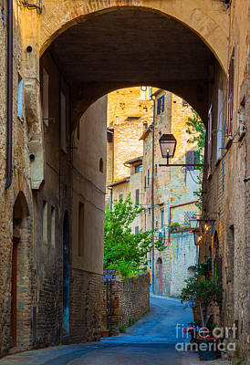 Archways Photograph - San Gimignano Archway by Inge Johnsson