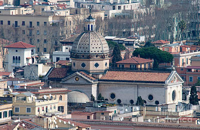 Rooftop Photograph - San Gioacchino In Prati by Andy Smy