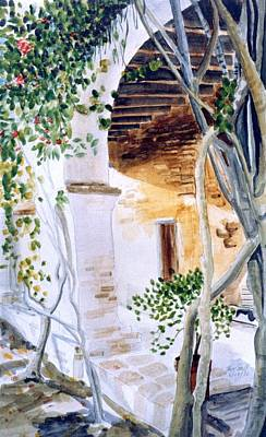 Mission San Juan Capistrano Painting - San Juan Capistrano Under The Archway by Theo  Snell