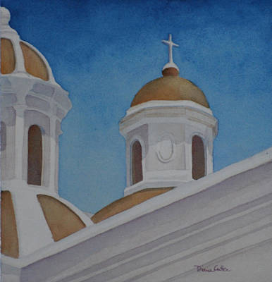 Painting - San Juan Cathedral by Diane Cutter