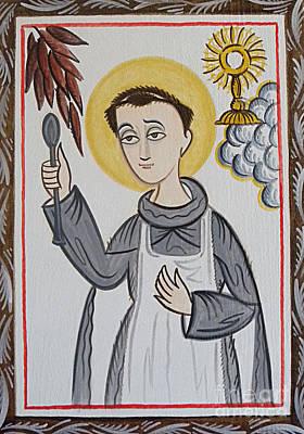 San Pascual Bailon - St. Pascal Baylon - Aopba Print by Br Arturo Olivas OFS