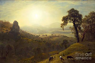 Animals Painting - San Rafael by Albert Bierstadt