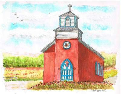 San Rafael Church In La Cueva, New Mexico Print by Carlos G Groppa