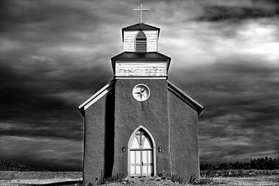 San Rafael Mission Church, La Cueva, New Mexico, Illiminated By  Print by Mark Goebel